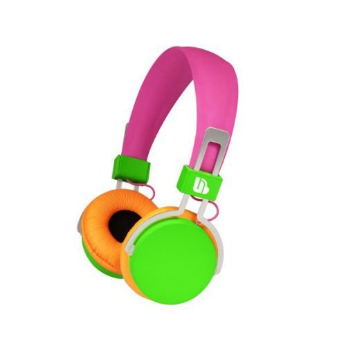 Urban Beatz M-HL720 Hi-Light Power Headphones, Pink/Green/Orange (Discontinued by Manufacturer)