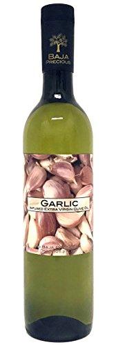 Baja Precious - Glorious Garlic Infused Extra Virgin Olive Oil (750ml Bottle) by Baja Precious