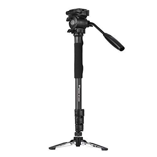 Andoer Weifeng WF-3958M Professional Portable Aluminum Alloy Camera Monopod with Fluid Pan Head Unipod Holder 1/4 inch 3/8 inch Screw Mounts Max. Height 145cm Max. Load Capacity 5kg