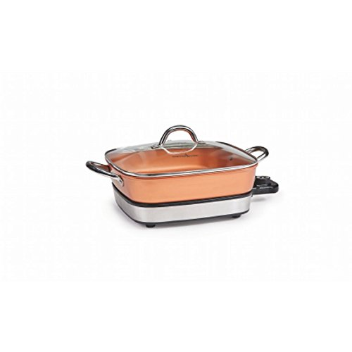 "Copper Chef 12"" Removable Electric Use as a Skillet"