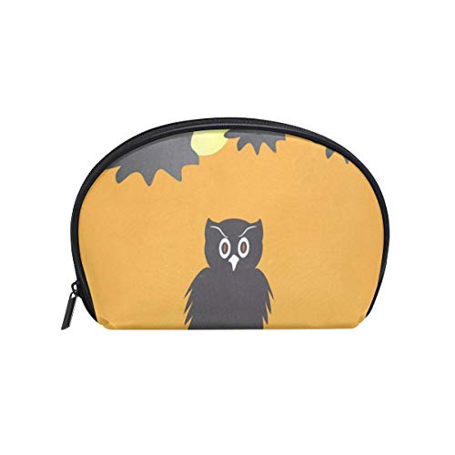 Makeup Organizer Owl Halloween Day Womens Zip Toiletry Bag Large Case Cosmetic Bags -