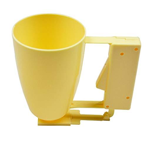 ZengBuks Praktische Home Küche Kochen Werkzeuge Batter Dispenser Tasse Cupcake Fleisch Ball Backen Werkzeuge Geschirr Helfer Backformen - gelb
