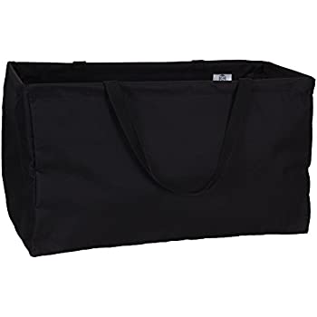 Household Essentials 2212-1 Krush Canvas Utility Tote   Reusable Grocery Shopping Bag   Laundry Carry Bag   Black