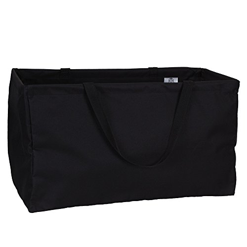 Household Essentials 2212-1 Krush Canvas Utility Tote - Reusable Grocery Shopping Bag - Laundry Carry Bag - Black (Shopping Totes)
