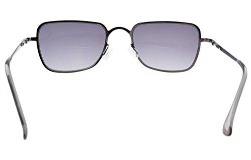 1 00 Lente de Lentes Grises de policarbonato Lentes grises Gafas de bifocales lectura Bisagras muelle PSw7qP1