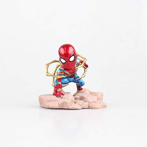 Mini Egg Attack Series Marvel Spiderman Ironman Thanos Avengers Infinity War Iron Spider 8cm Cute Figure Model Toys for Children