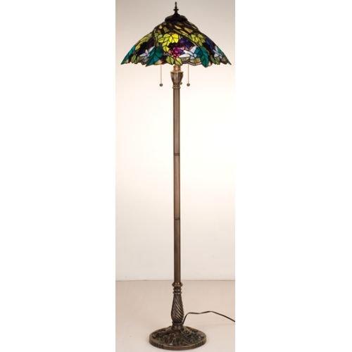 64.5 Inch H Spiral Grape Floor Lamp Floor Lamps