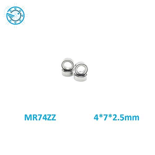 100 pcs 4x7x2.5mm MR74zz 4*7*2.5 Metal Shielded Ball Bearing Bearings