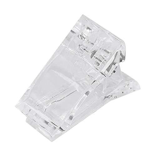 腐った基本的なお祝いACAMPTAR ネイルのクリップ 透明指ポリクイック ビルディングジェルエクステンション ネイルアート マニキュアツール アクセサリー 偽ネイル