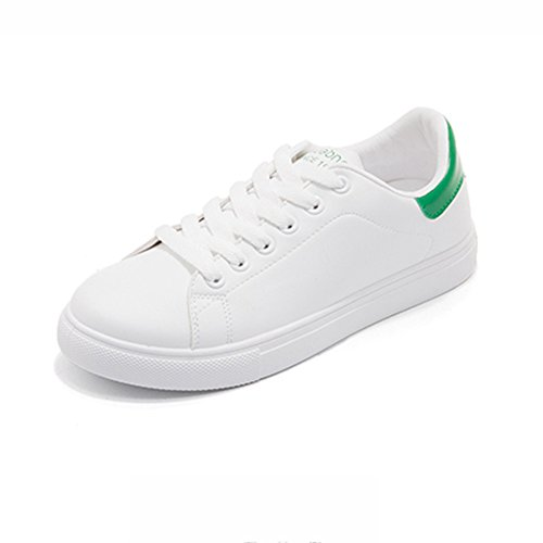 Zapatos Negro uk5 Ocio Style Shoes Beat Hong color Plate Tamaño 5 Acogedor White Small Eu38 Kong Lvzaixi Verde Street cn38 5gnFO1a