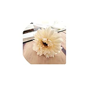 1pc Silk Flowers Artificial Flowers Simulation Chrysanthemum Daisy Tissue Hand Made Wedding Decoration Gifts,Milk White 81