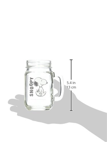 ICUP Peanuts Snoopy Walking Handled Glass Mason Jar, Clear by ICUP (Image #2)