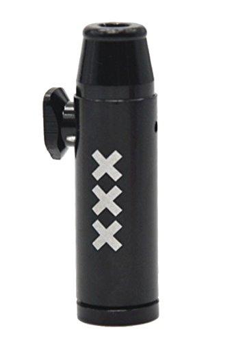 Snuff Bullet Sniffer Snorter dispenser (metallo) nero Amsterdam Style Rocket Bullet Sniffer Snorter