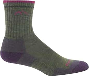 Darn Tough Vermont Women's Merino Wool Micro Crew Sock Cushion 1903,Moss Heather,US S R
