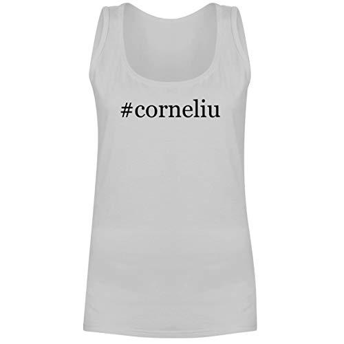 - The Town Butler #Corneliu - A Soft & Comfortable Hashtag Women's Tank Top, White, Medium