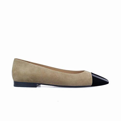 Baja la Punta Color la de Primavera Planos combina de 35 Moda Zapatos heels High la de Zapatos Segundo Que la de Boca Planos los IRqApZcw