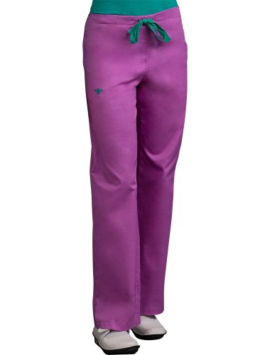 Peaches Med Couture Signature Scrub Pant Orchid/Lagoon Medium Tall