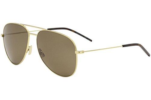 Yves Saint Laurent CLASSIC 11 021 59mm Gold / Brown Sunglasses