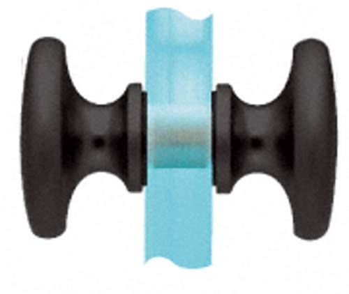 (CRL SDK100MBL Matte Black Traditional Style Back-to-Back Shower Door Knobs)