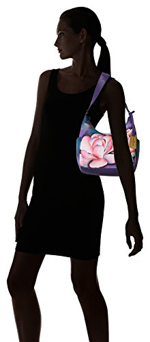 Anuschka Hand Painted Leather Women'S Classic Hobo with Side Pockets, Magnolia Melody by Anna by Anuschka (Image #6)