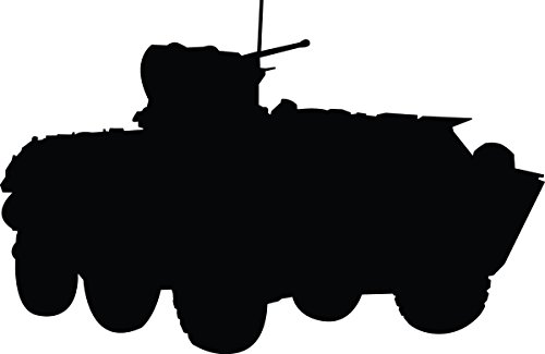 Armored Transport Vehicle - Haynes Military Armored Vehicle Silhouette Wall Decal Cutout 47