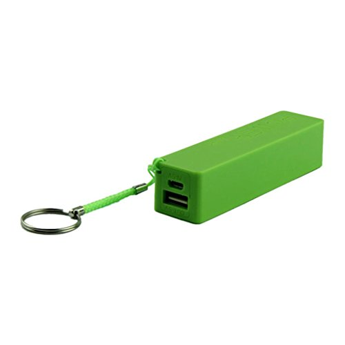 POTO 2017 New Convinient Portable Power Bank 18650 External Backup Battery Charger With Key Chain (Green)