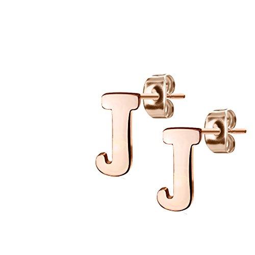 nbsp;mm Acciaio Inox Rosé nbsp;nbsp;lettera Tata Alfabeto Gisèle In nbsp;nbsp;10 Orecchini J zPHgqfcZ