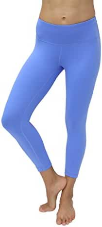 90 Degree By Reflex Yoga Capris - Yoga Capris for Women - Hidden Pocket-Purple Impression-S