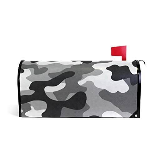 Black Gray Camouflage Mailbox Covers Magnetic Mail Letter Post Box Cover Large Size 25.4