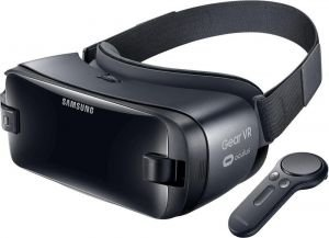 Samsung Gear VR 2017 Edition Virtual Reality Headset with Controller Blue/Black