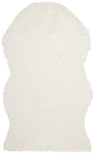Safavieh Faux Silky Sheepskin FSS115A Ivory Area Shag Rug (3' x 5')
