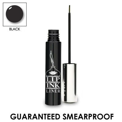 LIP INK 100% Smearproof Waterproof Liquid Eyeliner - Black