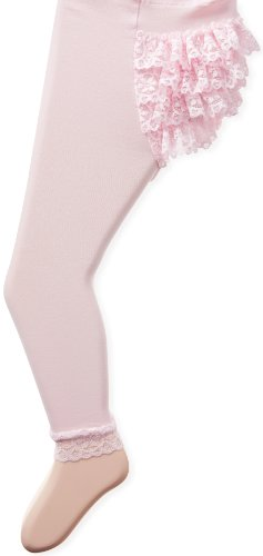 Jefferies Socks Baby Girls' Microfiber Rhumba Footless Tights, Pink, 18 24 Months