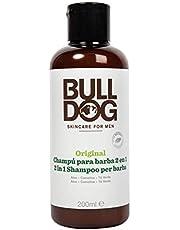 Bulldog Cuidado Facial para Hombres - Champú y Acondicionador Barba Original 2 en 1, 75 ml