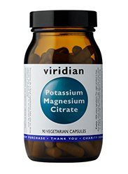 Citrato de magnesio y potasio Viridian, 90 comprimidos veganos