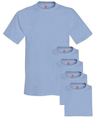 rew Neck Tee (Pack of 5), Light Blue, XX-Large ()