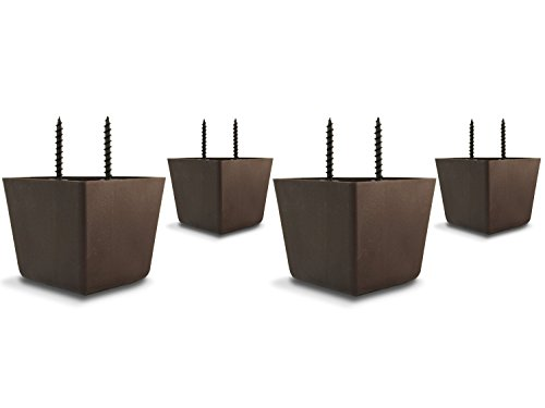 """Price comparison product image 2 1 / 4"""" Tall / High Universal HDPE Plastic Furniture Triangle Sofa / Couch / Chair Legs with Screws - Set of 4"""