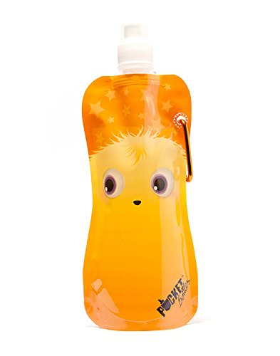 Pocket Bottles Zees Inc Cb1007 Monster Foldable Bottle, 16 Oz, Orange