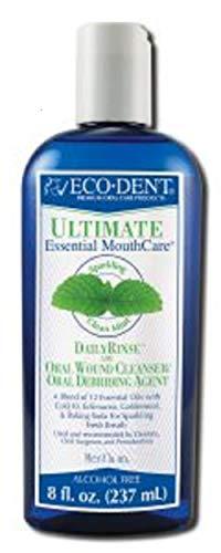 ECO-DENT Premium Oral Care Mouthwash Daily Rinse Sparkling Clean Mint 8 oz