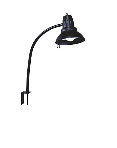 Electrix 7290 BLACK Gooseneck Work Lamp, Incandescent, L Bracket Mounting, 22