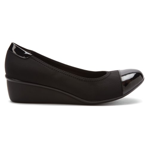 Trok Schoenvrouwen Elizabeth Pumps Zwart Stretch / Zwart Patent