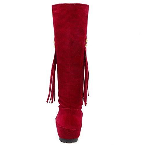 Casual Casual Frange Red Mocassini AicciAizzi Stivali warm Donna 5TwpBqO