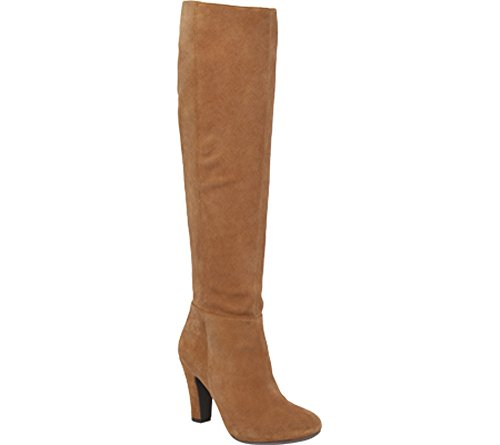 Split Suede Leather Boots Jessica FERENCE Dakota Toe Fashion Closed Tan Womens High Knee Simpson SWqw7pgfx