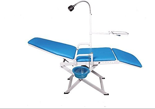 (EAST Dental Portable Chair Overhead Cold Light with Cuspidor Tray Dentist Mobile Unit Type GU-109(A)-2 LED Without Recharging.)