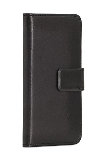 Sena Çases Magia Wallet, Burnished leather Wallet Case for the iPhone 6/6s (Black)