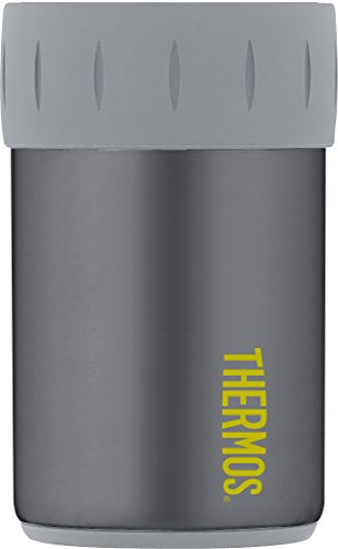 Thermos Stainless Steel Beverage Can Insulator for 12 Ounce Can, Charcoal