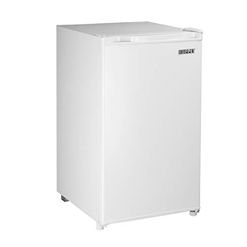 Kuppet Mini Fridge Compact Refrigerator for Dorm, Garage, Camper, Basement or Office, Single Door Mini Fridge, 3.2 Cu.Ft, White