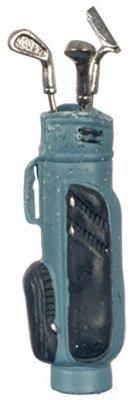 Dollhouse Miniature 1:12 Scale Blue Golf BAG with 3 Clubs #G8032b