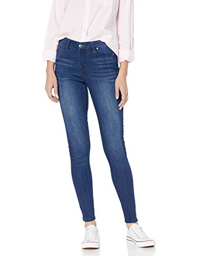 Celebrity Pink Jeans Women's Infinite Stretch Mid Rise Skinny Jean, Vintage Dark, 13 (Best Skinny Jeans For Curvy Thighs)