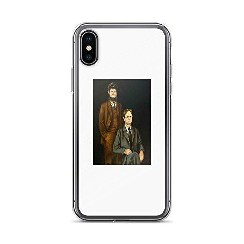 iPhone X Case iPhone Xs Case Clear Anti-Scratch Shock Absorption Dwight and Mose Schrute, The Office Dwight Dwight Schrute Mose Schrute Cover Phone Cases for iPhone X/iPhone Xs -